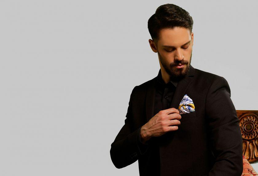 اصول ست کردن دستمال جیبی مردانه با کت شلوار