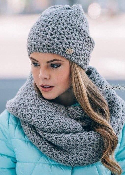 شیکترین مدل شال و کلاه بافتنی دخترانه برای انواع استایلها