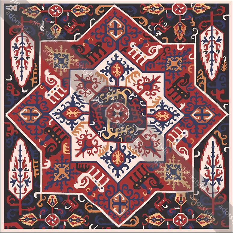 روسری نخی قفقازی