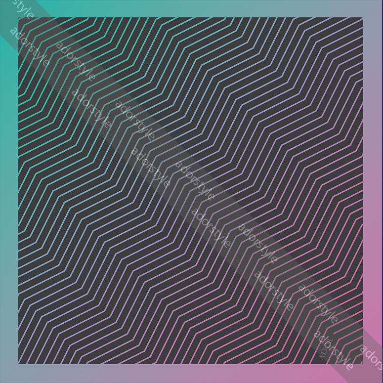 دستمال تزیینی خط صورتی آبی